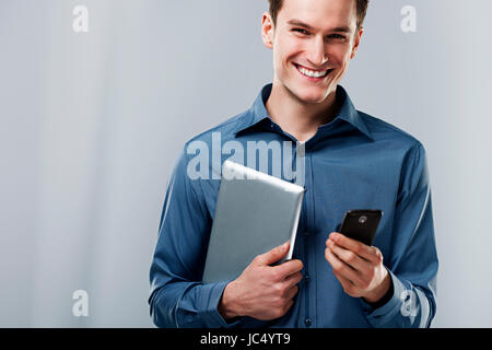 Busy man - Stock Photo