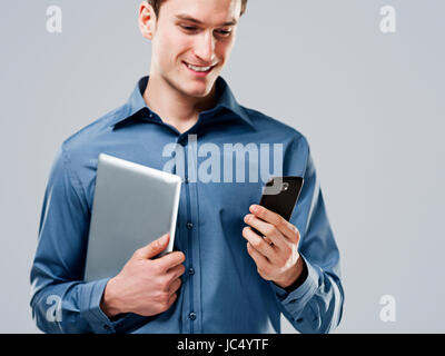 Working handsome man - Stock Photo