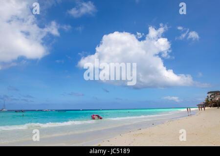 The beach in Nungwi, Zanzibar - Stock Photo