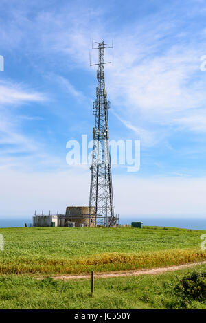 Mobile phone mast, Isle of Wight, UK - Stock Photo