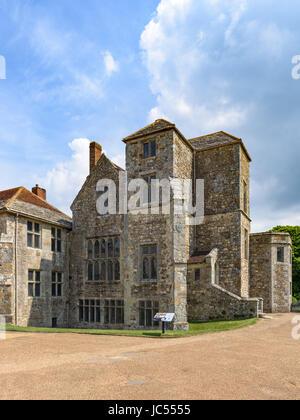 Carisbrooke Castle, Isle of Wight, UK - Stock Photo