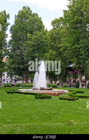 CROATIA ZAGREB, 12 JUNE 2013: View of Zrinjevac, Zagreb - Stock Photo