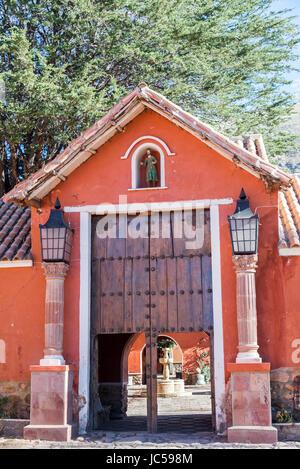 Historic hacienda in rural Bolivia near the city of Potosi - Stock Photo