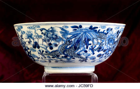 Antique 18th Century Chinese Porcelain Tea Bowl Stock