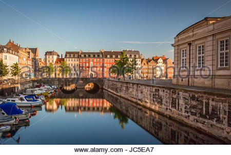 Copenhagen awakes on a lazy summer morning - Stock Photo