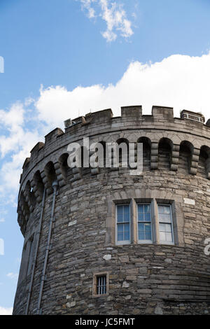 The Bedford Tower is part of Dublin Castle. The tower, built in 1761, is located on the northern side of Dublin - Stock Photo