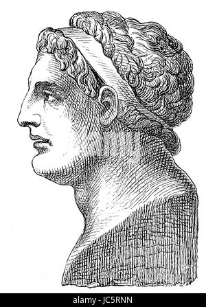 Demetrius I, 337-283 BC, called Poliorcetes, a Macedonian Greek nobleman, military leader, and finally king of Macedon - Stock Photo