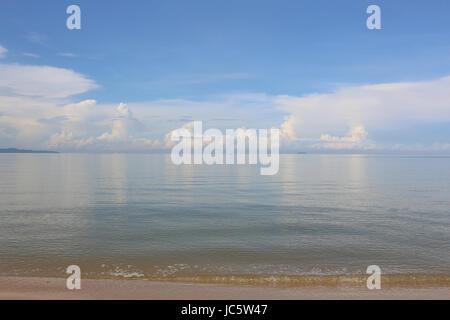 Seascape with flat sea - Stock Photo