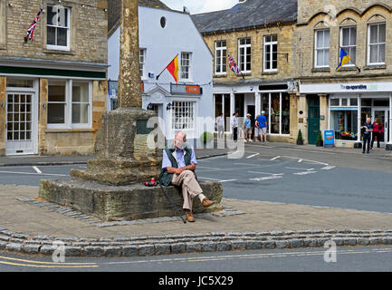 Stow-on-the-Wold, Cotswolds, Gloucestershire, England UK - Stock Photo