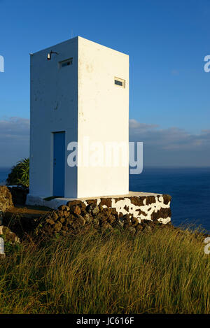 Whale lookout, Lajes Th Pico, Pico, the Azores, Portugal / Ponta there Queimada, Walausguck, Lajes do Pico, Azoren, - Stock Photo