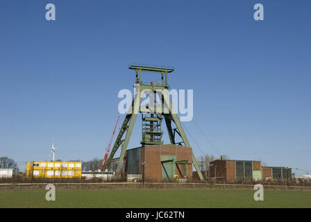 Germany, Lower Saxony, Salzgitter, shaft Konrad, closed iron ore mine, intended as a final disposal site for radioactive - Stock Photo