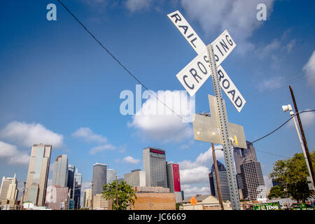 Rail Road Crossing Sign - Stock Photo