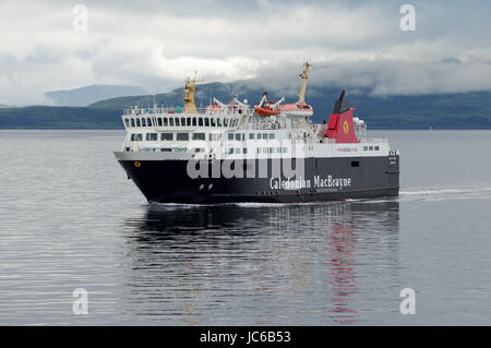 CalMac ferry from Oban to Craignure on the Isle of Mull, Scotland - Stock Photo