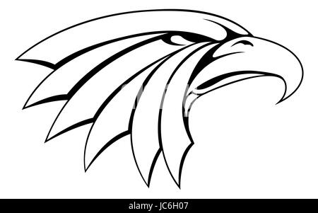 An illustration of a proud eagle head icon - Stock Photo