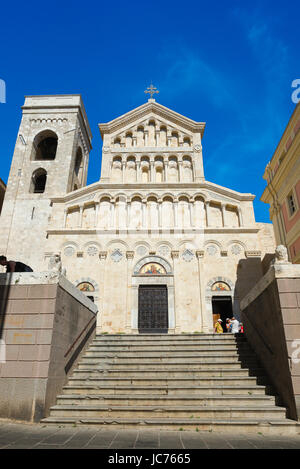 Cagliari cathedral, view of the front of the Duomo facing the Piazza Palazzo in the Castello quarter of Cagliari, - Stock Photo