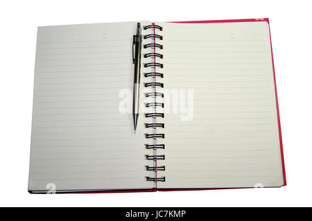 Pencil book on white background - Stock Photo
