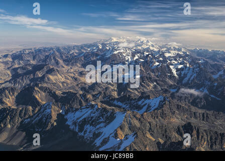 Scenic view from the top of Huayna Potosi mountain in Bolivia - Stock Photo