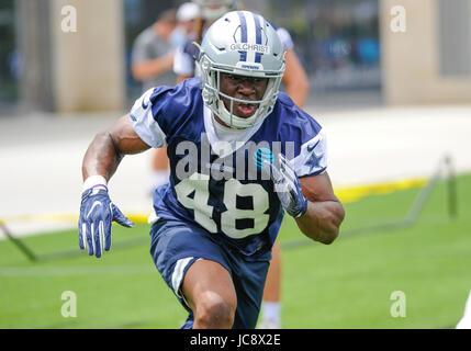 June 14, 2017: Dallas Cowboys linebacker Kennan Gilchrist #48 during an NFL mini-camp organized team activities - Stock Photo