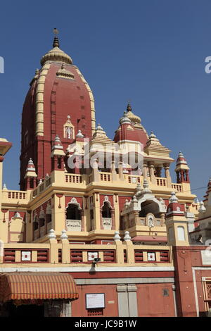iskcon temple in delhi india - Stock Photo