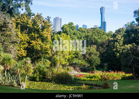Royal Botanic Gardens in Melbourne, Victoria, Australia. - Stock Photo