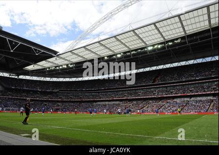 VIEW OF WEMBLEY STADIUM DURING CHELSEA V PORTSMOUTH WEMBLEY STADIUM LONDON ENGLAND 15 May 2010 - Stock Photo