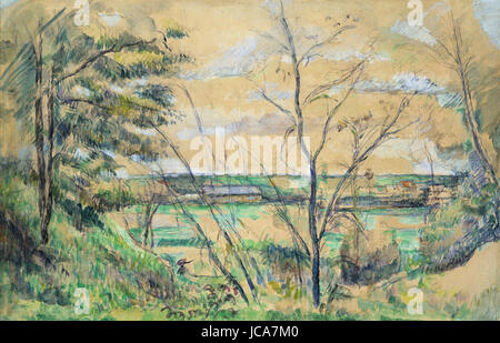 Paul Cézanne - In the Oise Valley - Stock Photo
