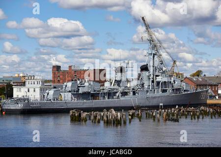 USS Cassin Young dd-793 boston charlestown navy yard Boston USA - Stock Photo