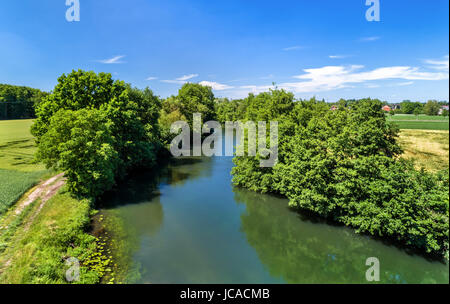 The Ill river between Fegersheim and Eschau near Strasbourg - Grand Est, France - Stock Photo