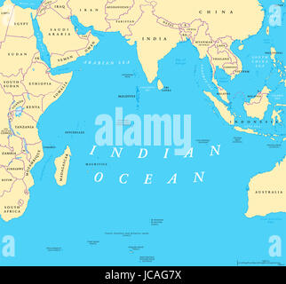 Map of india asia and indian ocean arabian sea sri lanka equator asia indian ocean political map countries and borders worlds third largest ocean division bounded gumiabroncs Images