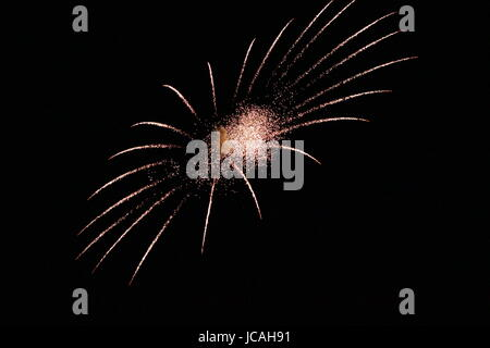 FIRE WORK ON FOURTH OF JULY - Stock Photo