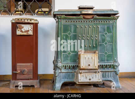 Old colored wood and gas-stoves - Stock Photo
