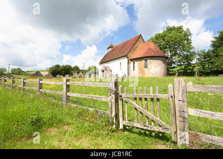Upwaltham 12th century church, Upwaltham, West Sussex, England, UK - Stock Photo