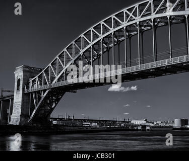Bridge on a Cold Winter Day in New York City - Stock Photo