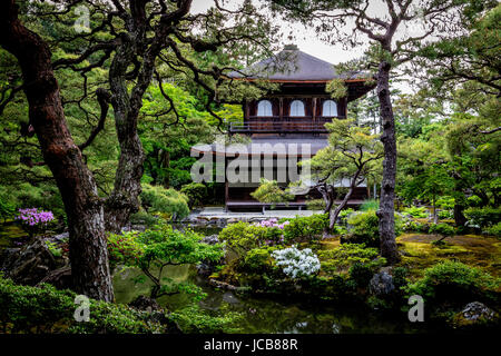 Ginkaku-ji or Jisho-ji temple in Kyoto, Japan. - Stock Photo
