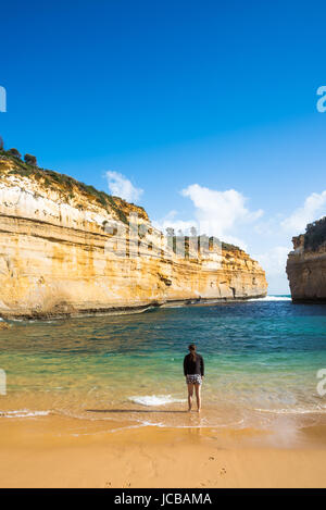 Loch Ard Gorge, Port Campbell on the Great Ocean Road, South Australia, near the Twelve Apostles. - Stock Photo