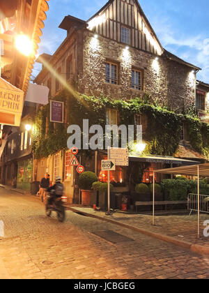 HONFLEUR, FRANCE - AUGUST 4, 2014: historical building of Les maisons de Lea in Honfleur, France. It is made up - Stock Photo