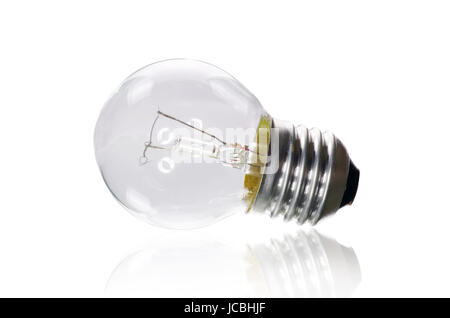 Electric bulb  on a white background - Stock Photo