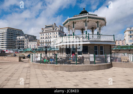 The Bandstand, Brighton seafront, United Kingdom - Stock Photo