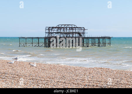 The West Pier, Brighton, United Kingdom - Stock Photo