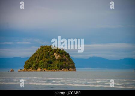 Small island in New Zealand. Abel Tasman national Park, located in South Island in New Zealand. - Stock Photo