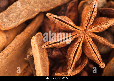 Extreme Closeup Texture of Hot Wine Spices - Studio Shot - Stock Photo