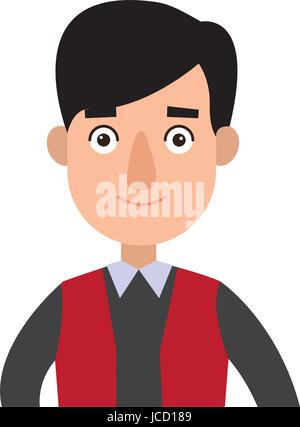 funny cartoon guy in formal clothes gesturing - Stock Photo