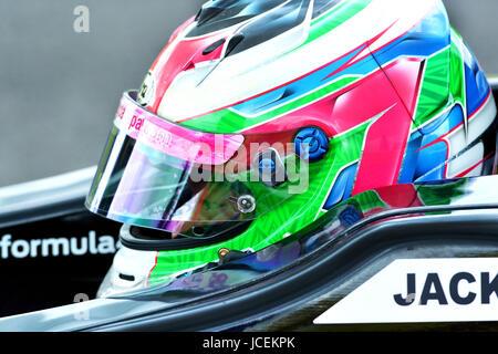 Formula Ford  Driver racing at the British Touring Car Championship - Stock Photo