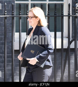 London, UK. 15th Jun, 2017. Amber Rudd Home Secretary, arrives at Downing Street following the London Tower Block - Stock Photo