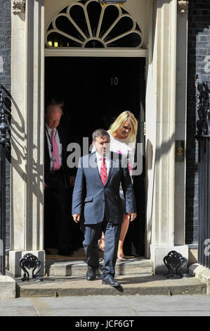 London, UK. 15th June, 2017. Robin Swann, leader of the Ulster Unionist Party, exits Number 10. Members of the Northern - Stock Photo