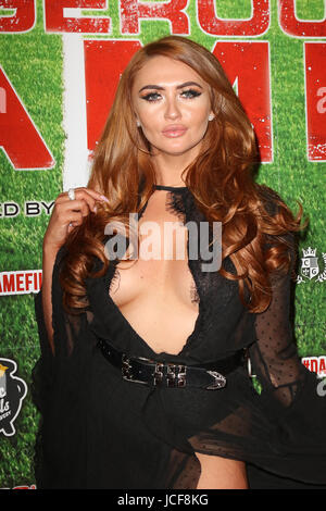 London, UK. 15th June, 2017. Charlotte Dawson, Dangerous Game - UK film premiere, Empire Haymarket, London, UK. - Stock Photo