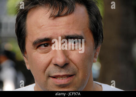 London, UK. 15th June, 2017. Miguel Alves father of Ines Alves who wrote her GCSE Chemistry exams the morning after - Stock Photo