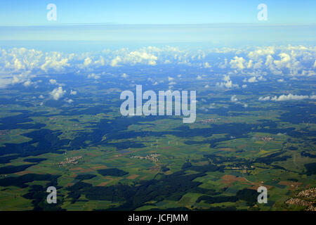 aerial photo of Baden Württemberg - Germany Stock Photo