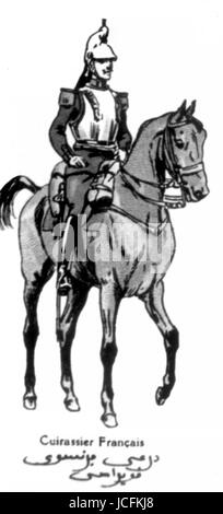 Allied armies : French Cuirassier  World War I - Stock Photo