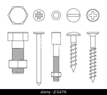 Screws and bolts - Stock Photo